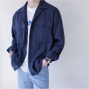 Other - Relaxed flannel jacket Navy Blue